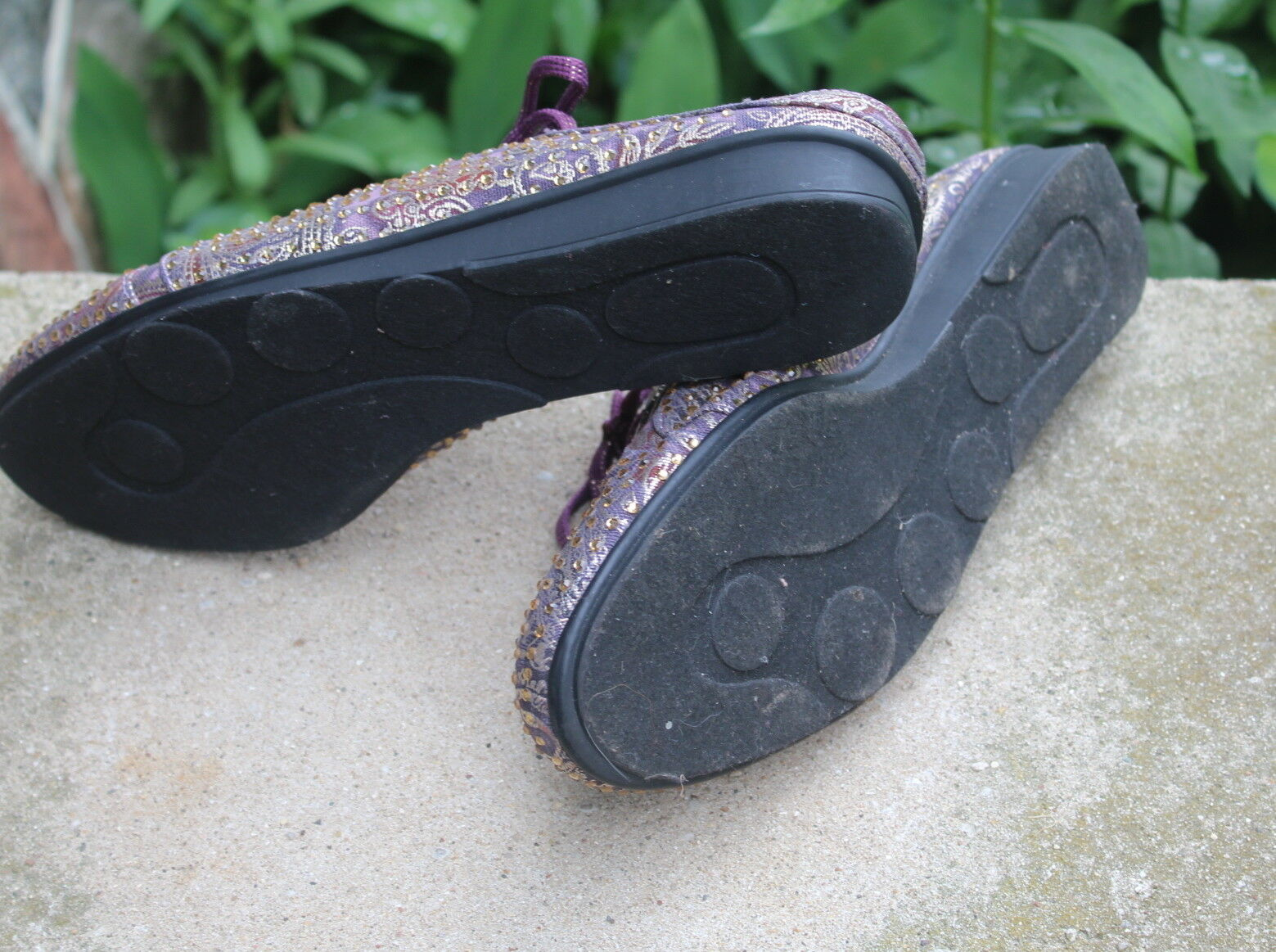 Joan 11 Boyce - 11W 11 Joan W arte para usar cristal Paisley púrpura Funky diapositiva Mulas Zapatos a26bfe