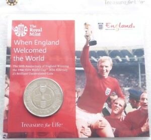 2016-Royal-Mint-FIFA-World-Cup-England-BU-5-Five-Pound-Coin-Pack-Sealed