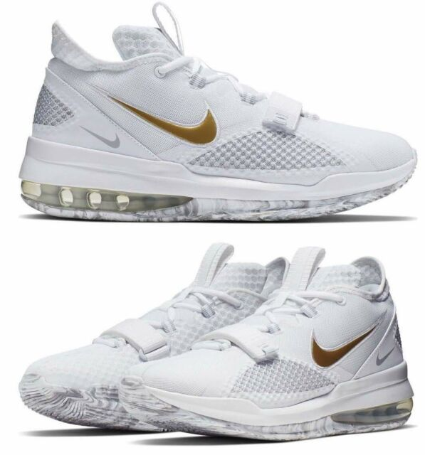 New NIKE Air Force Max Low Shoes Mens white gray gold all sizes