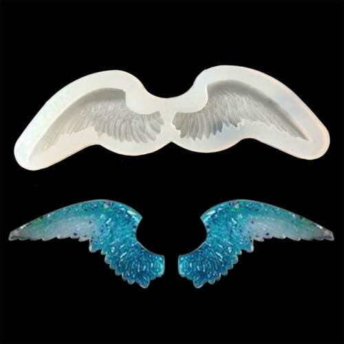 Angel Wing Silicone Resin Fondant Mold DIY Jewelry Mould Hot Pendant Neu Ma T0C2
