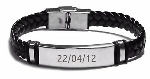 e94abe479a733 Details about Birth Date Engraved Bracelet - Personalized Gift Ideas  Christmas Gifts For Him