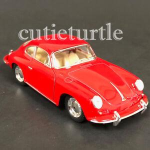 Kinsmart-Porsche-356-B-Carrera-2-1-32-Model-Toy-Car-KT5398-Red