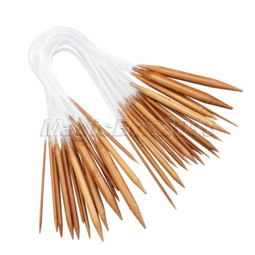 18 Size Flexible Plastic Bamboo Double Pointed Circular Knitting Needles Crochet