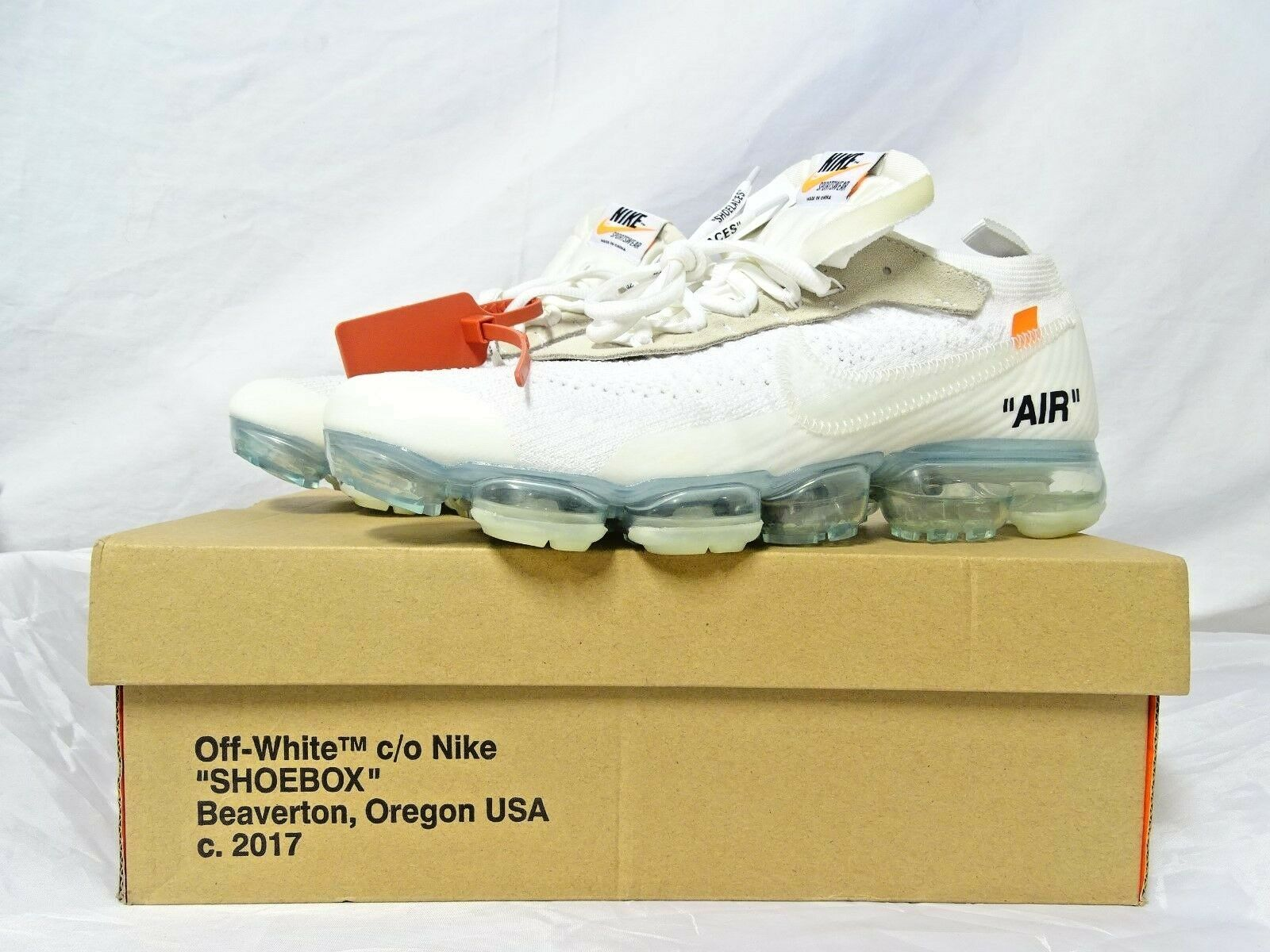 2cca91aaa7786 The Nike Air VaporMax Flyknit X OFF shoes Size 11 WHITE 10 ...