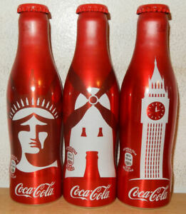 COCA-COLA-Limited-Edition-2017-Soccer-3-alu-bottle-cans-set-from-SPAIN-25cl