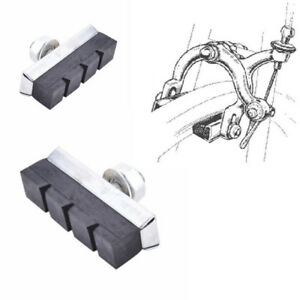 PAIR BIKE BRAKE PAD BLOCK PADS SHOE VINTAGE INSERT CANTILEVER L/'EROICA CYCLE