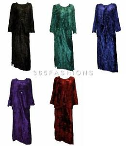 BOHO-HIPPIE-CRUSHED-VELVET-ROUND-NECK-EMBROIDERED-TWO-PIECE-TOP-SKIRT-SET