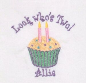 Image Is Loading Personalized Custom CUPCAKE Candles 1st 2nd ANY Birthday
