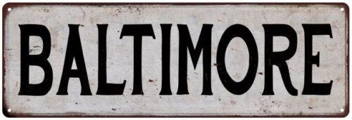 BALTIMORE Vintage Look Rustic Metal Sign City State 106180041221