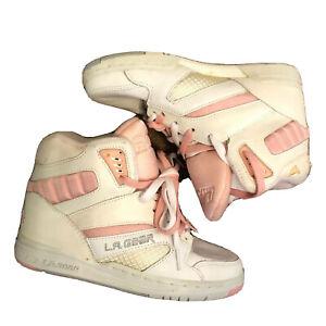 LA Gear Sneakers High Top Pink White