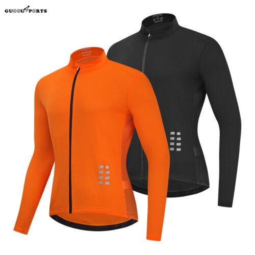 Long Sleeve Cycling Jersey Mesh Bike Top Full Zip Breathable Lightweight Shirts