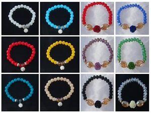 Bracciale-braccialetto-cristalli-perle-perline-rose-da-donna-pendant-14-colori