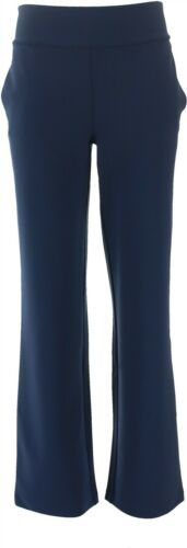 DG2 Diane Gilman Wrinkle-Resist Stretch Crepe PullOn Trouser NAVY M NEW 687-691