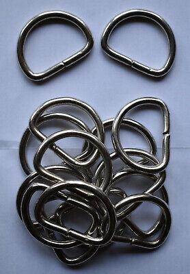 IstaTools® D-Ringe in Stahl vernickelt Halbrund Ring Halbrunde D-Ring