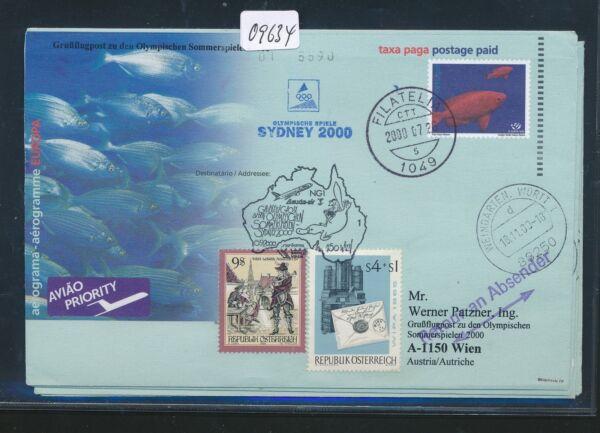 09634) Lauda Olympiades Pour Lp Vienne-sydney 15.9.2000, Gau Portugal Fish Poissons