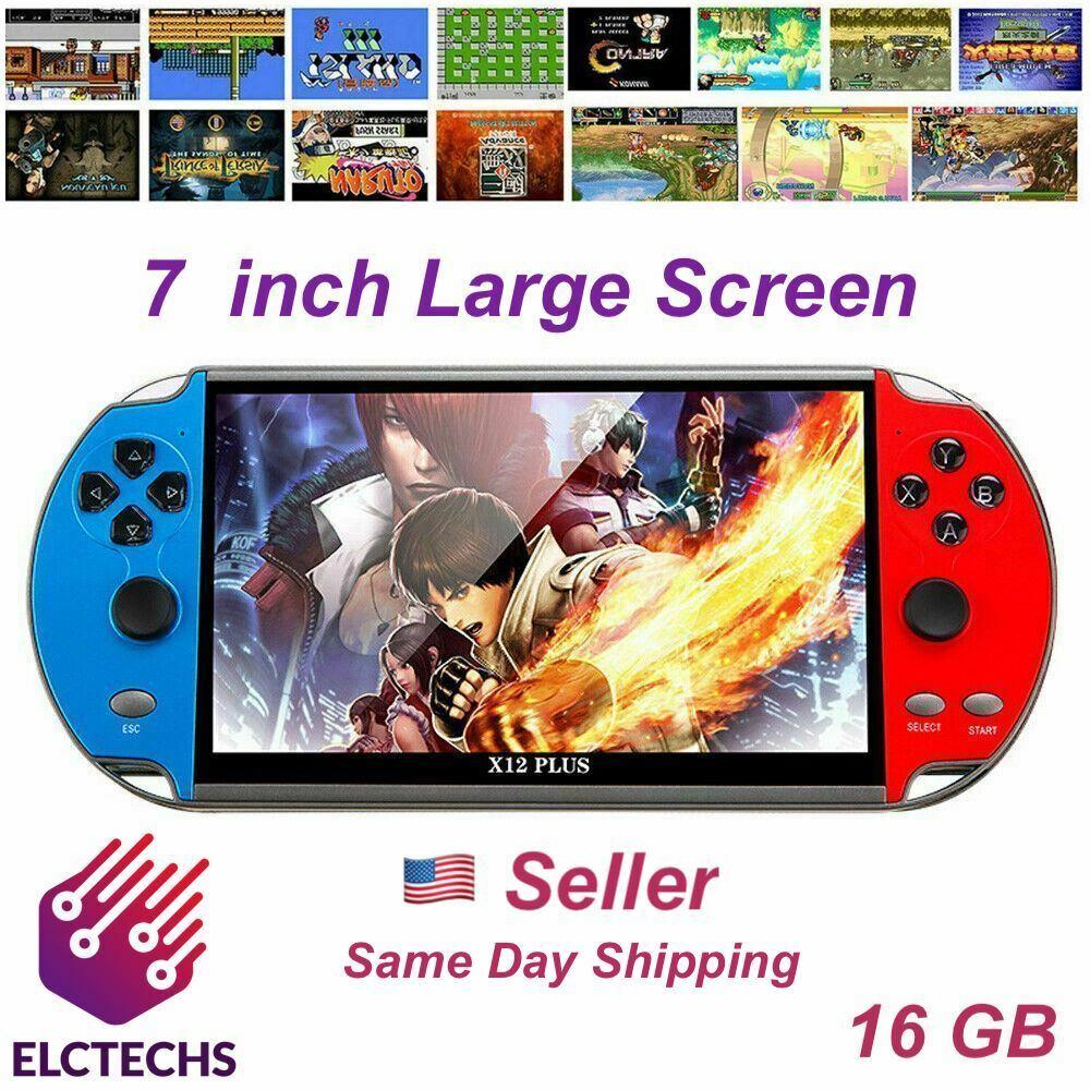 "Game Consoles X12 Plus 7"" 16GB Retro Handheld Portable Games Video Console"