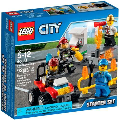 60088 Fire starter set//pompiers starter set-Nouveau /& OVP LEGO City