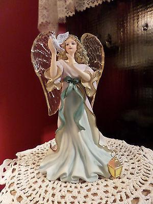 Thomas Kincade Angel of Peace Hand Numbered Figurine 2004 Hamilton Collection