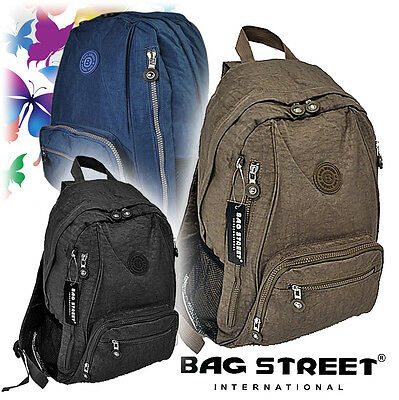 Nylon Rucksack Cityrucksack Damentasche Umhänger Shopper 4 Farben Neu