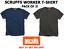 Scruffs Worker T-Shirt T Shirt Scruffs Work Top Navy Graphite Medium 2 PACK!