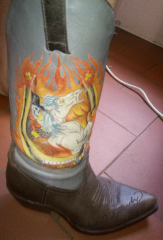 d63f1379fc6 Gorgeous Ed Hardy leather cowboy boots - Ladies   Other   Gumtree ...