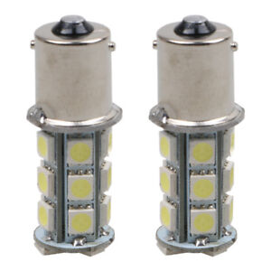 2-x-12V-1156-BA15S-5050-7503-1141-18SMD-LED-White-Car-RV-Trailer-Light-Lamp-Bulb