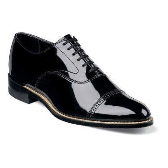 Stacy Adams Shoes Concorde Patent Leather Oxford Tuxedo Lace Wedding 11003-01 Scarpe classiche da uomo