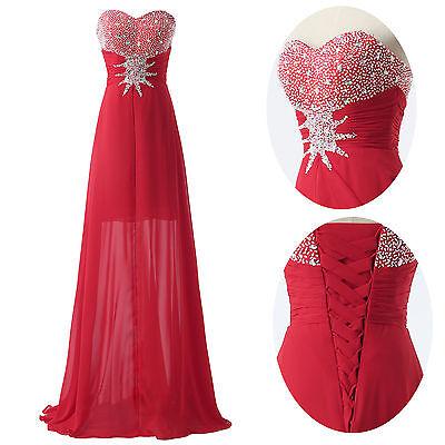 Perlen Trägerlos Brautjungfern Festzug Ballkleid Abendkleid Cocktailkleid Lange