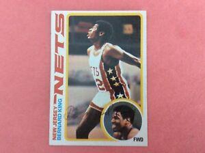 1978-79 Topps #75 New Jersey Nets Bernard King Rookie Autograph.