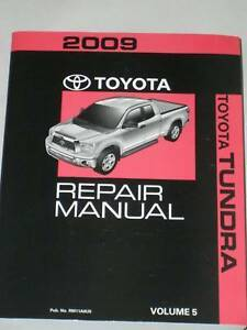 2009 toyota tundra repair manual volume 5 oem 2007 2008 ebay rh ebay com 2007 toyota tundra repair manual 2008 toyota tundra repair manual free