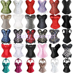 208d2d88df Image is loading Underbust-Corset-Top-Waist-Training-Corsets-Dress-Steampunk -