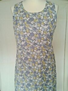 Adini-100-Linen-lined-dress-sleeveless-side-zip-scoop-neck-empire-line