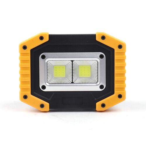 30W Portable USB Rechargeable COB LED Flood Light Outdoor Garden Work Spot Lamp