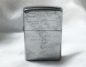 World Map Zippo Lighter. Image is loading Zippo World Map Titanium Corting Rare Model from  JAPAN eBay