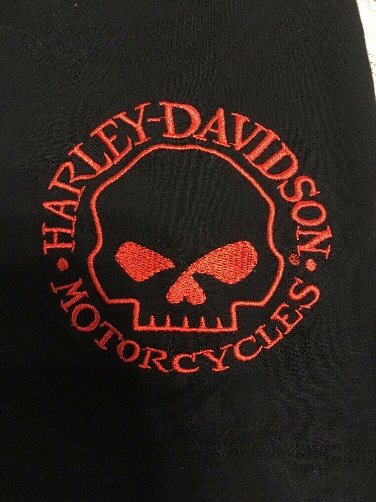 NWT HARLEY DAVIDSON Halter Top Tank Top Embroiderot Willie G Skull On Front XL