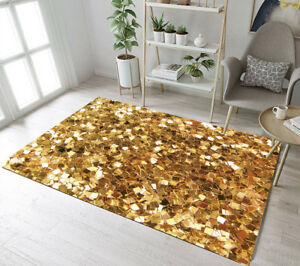 Floor Rug Mat Creative Gold Design Bedroom Carpet Living Room Area Rugs Doormat Ebay