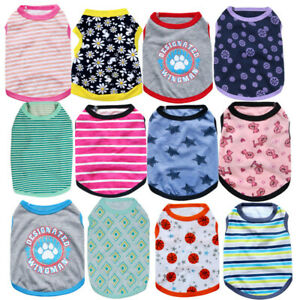 Dog-Cat-Pet-Clothes-cotton-T-Shirt-Dog-Clothing-Size-Xsmall-to-Medium-Puppy