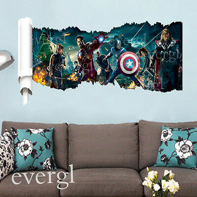 Movie The Avengers Removable Vinyl Wall Sticker Decals Kids Nursery Room CAP6