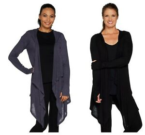 ANYBODY-CHIC-BRUSHED-HACCI-HOODED-DRAPE-CASCADE-FRONT-CARDIGAN-NEW-55