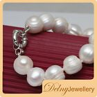 Brand New Freshwater Pearl Bracelet handmade with 925 Silver Clasp Delny