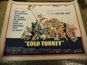 "COLD TURKEY(1970)DICK VAN DYKE ORIGINAL 1/2 SHEET POSTER 22""BY28"""