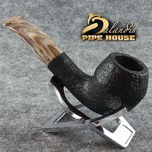 BALANDIS original Handmade tobacco smoking pipe MARCAN BLACKER Briar wood .