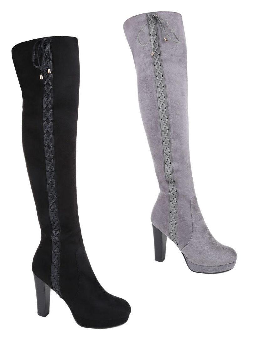 Inteligente botas zapato de mujer botas altas botas Lang caña plataforma club botas 36-41
