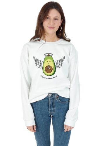 Holy Guacamole Sweater Top Jumper Sweatshirt Funny Avocado Angel Slogan