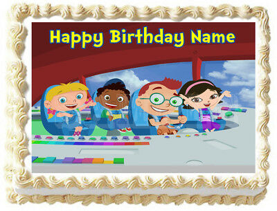 Swell Little Einsteins Party Edible Cake Topper Image Ebay Funny Birthday Cards Online Inifofree Goldxyz