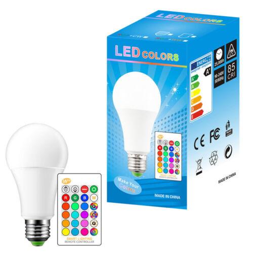 IR Control 5Pack E27//B22 5//10//15W RGBW//WW16 Color Changing LED Light Lamp Bulb