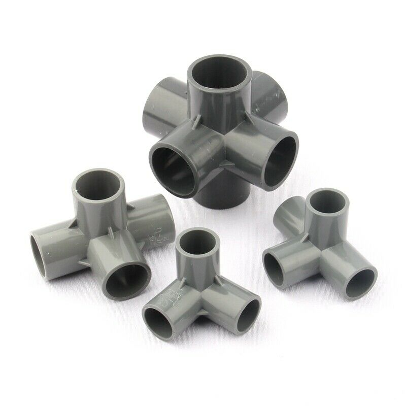 3 4 5 6 Ways PVC Pipe Connectors Garden Watering Main Joints