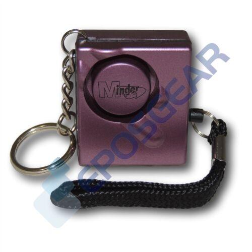 Purple 140db Minder Personal Panic Rape Attack Safety Keyring Alarm