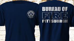 New pittsburgh fire bureau firefighter fire department navy t