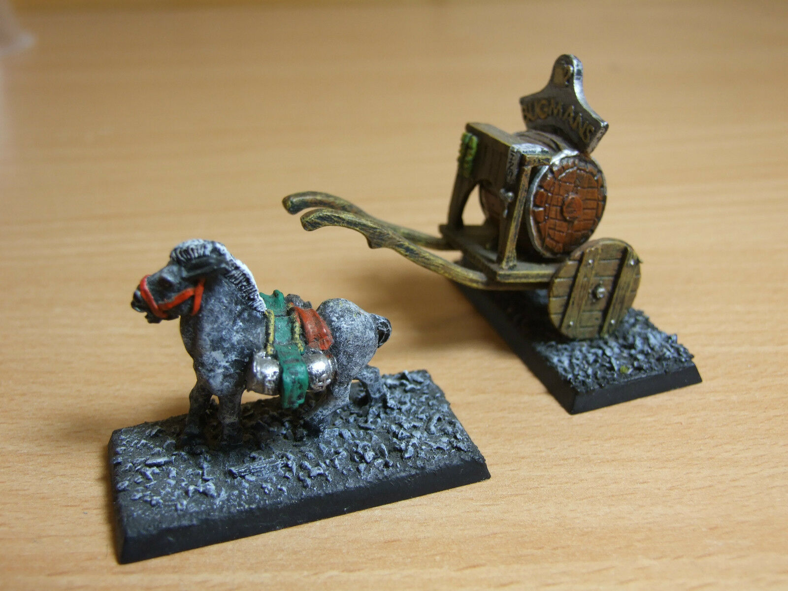 CLASSIC METAL BUGMANS BREWERS CART WELL PAINTED NO DRIVER (525)